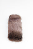 Brown Collar Faux Fur Scarf