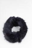 Black Collar Faux Fur Scarf