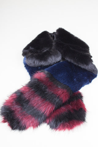 Loganberry Faux Fur Cuffs