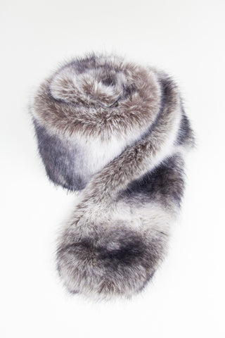 Midnight Regular Length Faux Fur Scarf