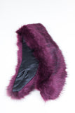 Burgundy Regular Length Faux Fur Scarf