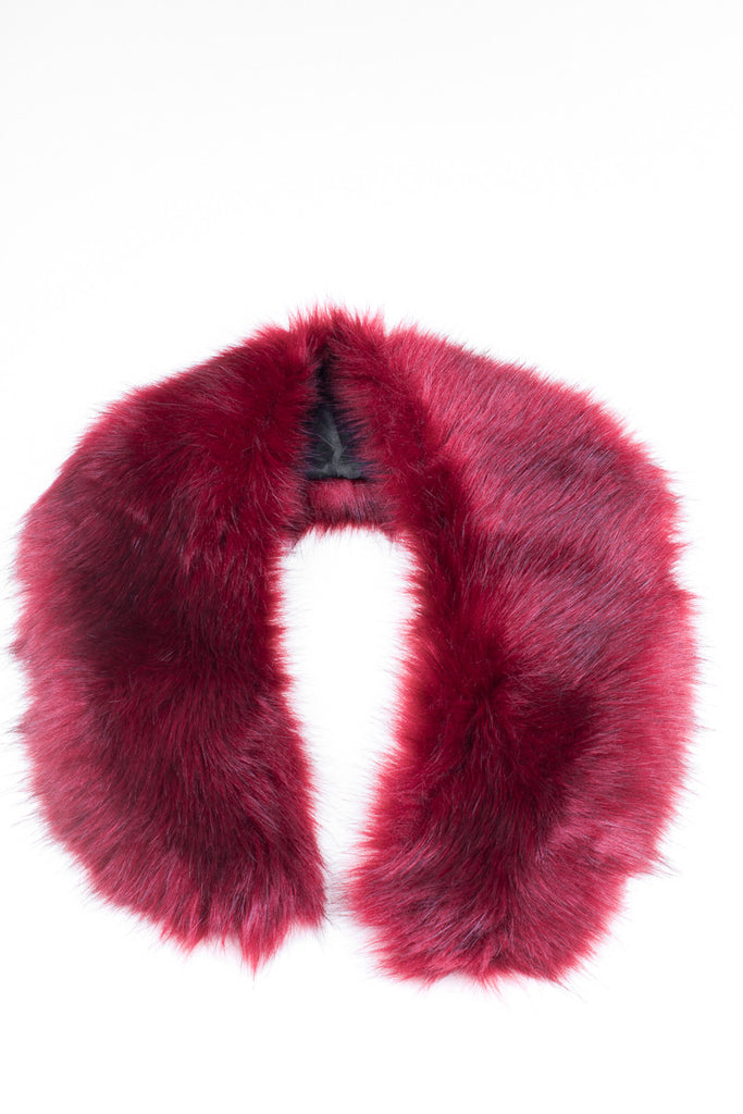 Cherry Regular Length Faux Fur Scarf