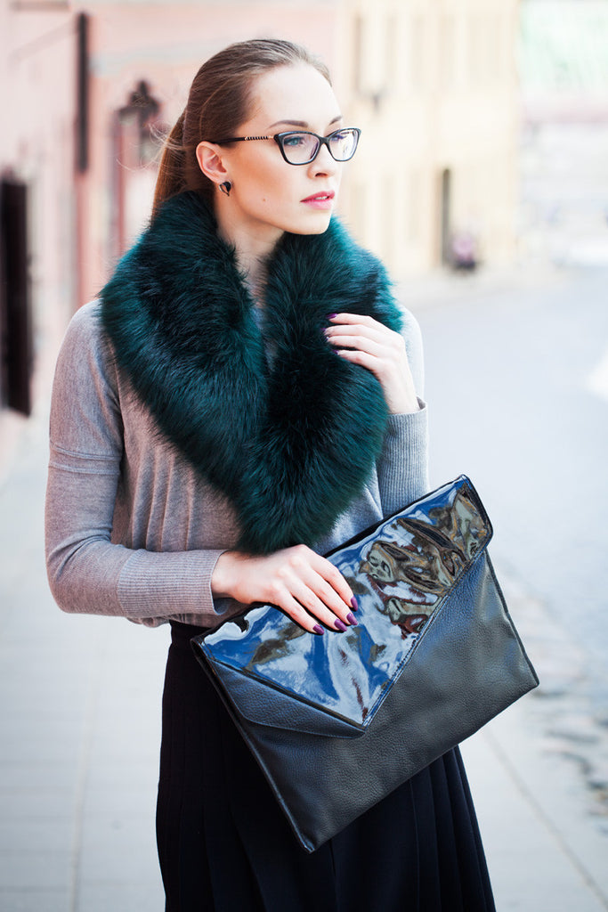Emerald Regular Length Faux Fur Scarf