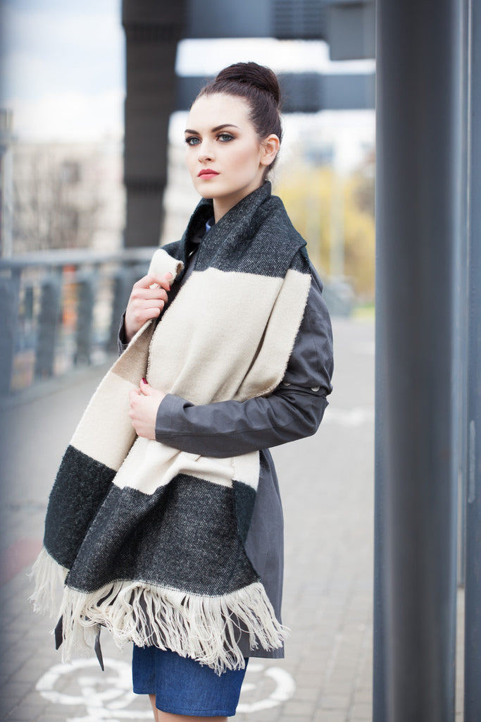 Multi Contrast Winter Scarf