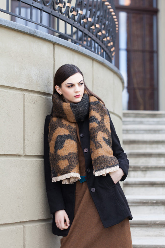 Animal Printed Oversized Scarf - GW Clarissa