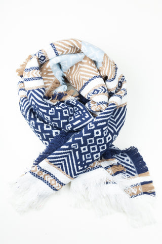 Mono Printed Wrap Around Scarf