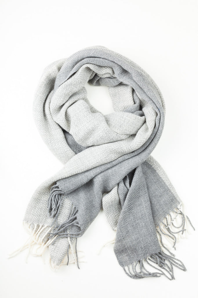 Plain Grey Toned Winter Scarf