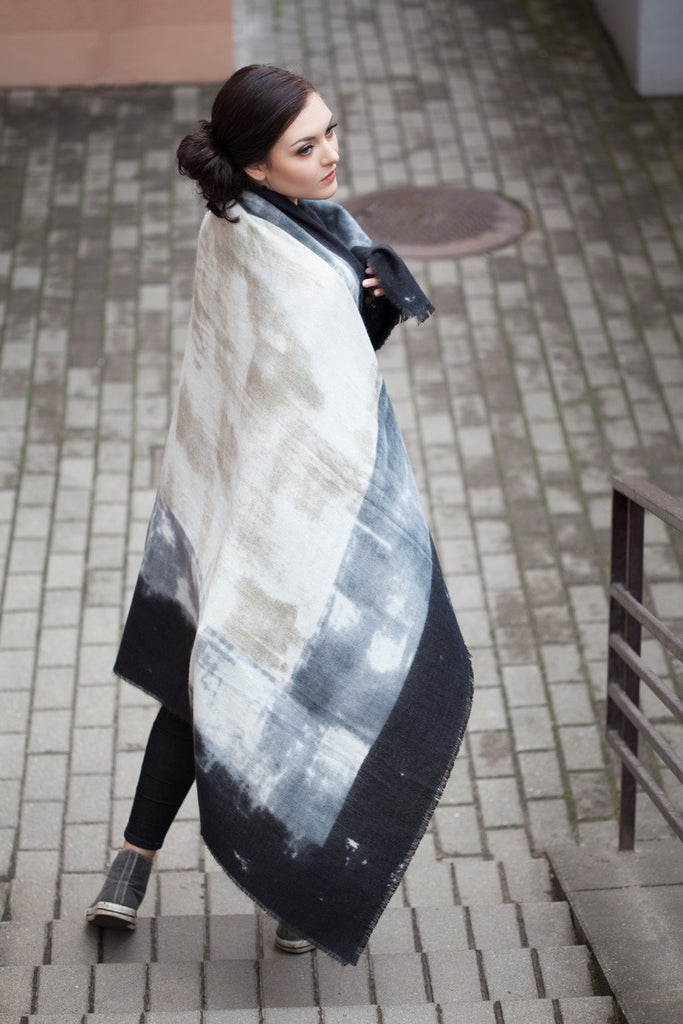 Cosy Wrap Colour Block Winter Scarf