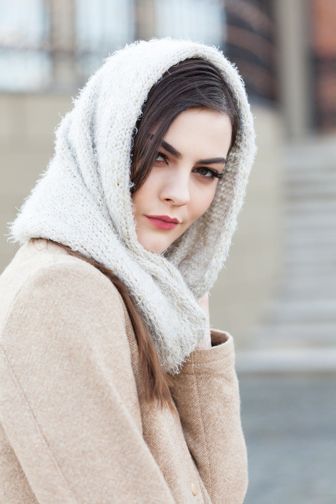Cream Dalston Soft Knitted Snood - GW Clarissa