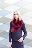 Cherry Regular Length Faux Fur Scarf - GW Clarissa