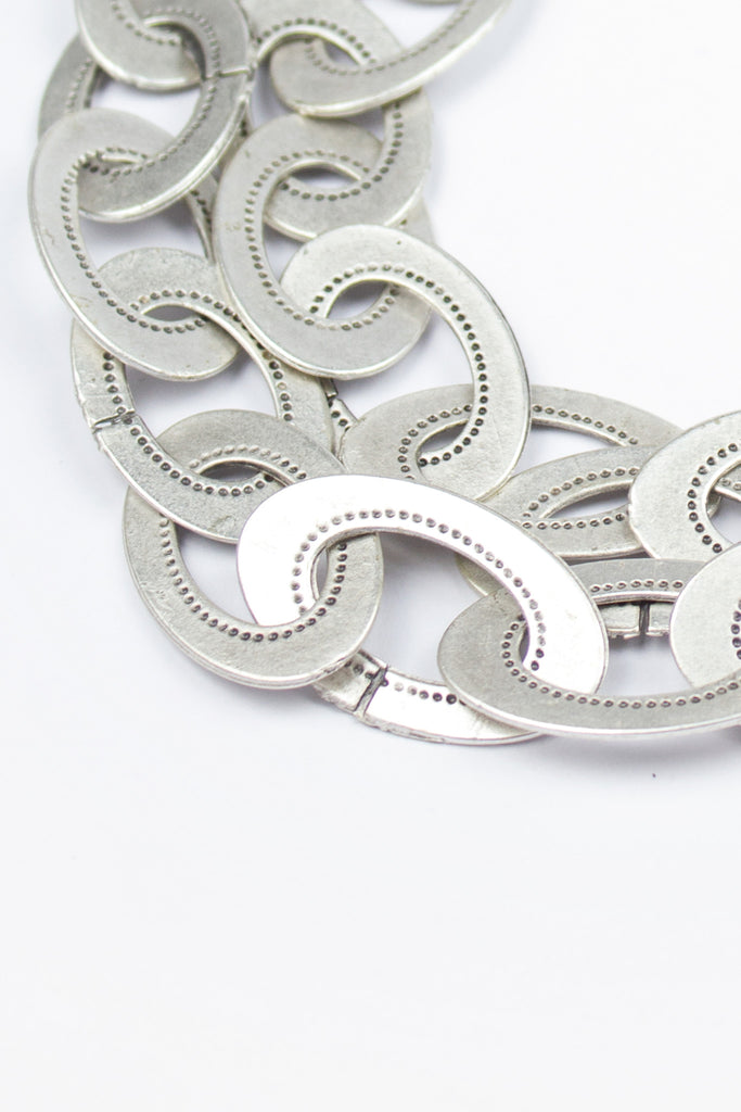 Interlocking Circle Statement Necklace