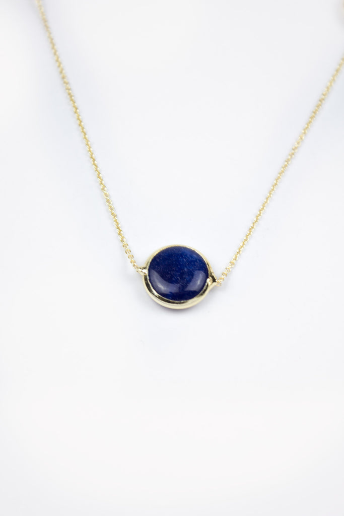 Blue Eye Stone Long Necklace