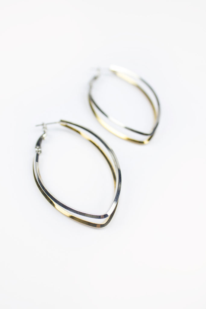 Lisa Double Metal Hoop Earrings