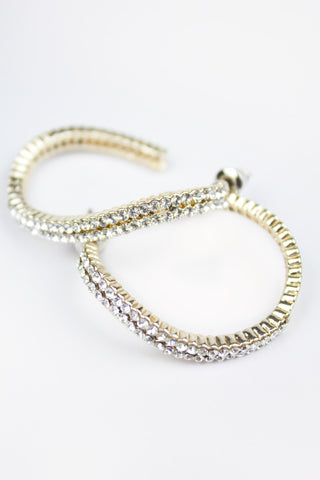 Anastacia Glitter Detail Hoop Earrings