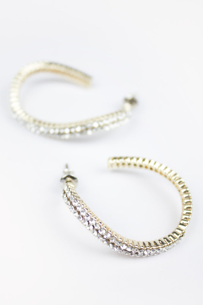 Sparkly Curve Hoop Earrings