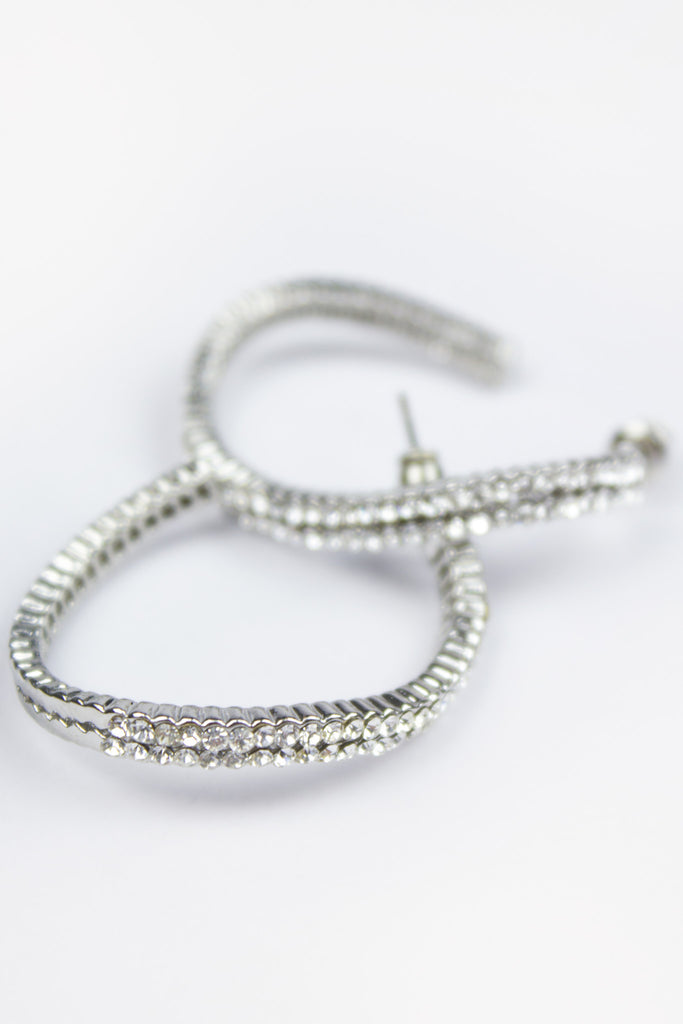 Silver Curve Hoop Earrings