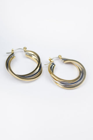 Gold Minimal Bar Drop Earrings