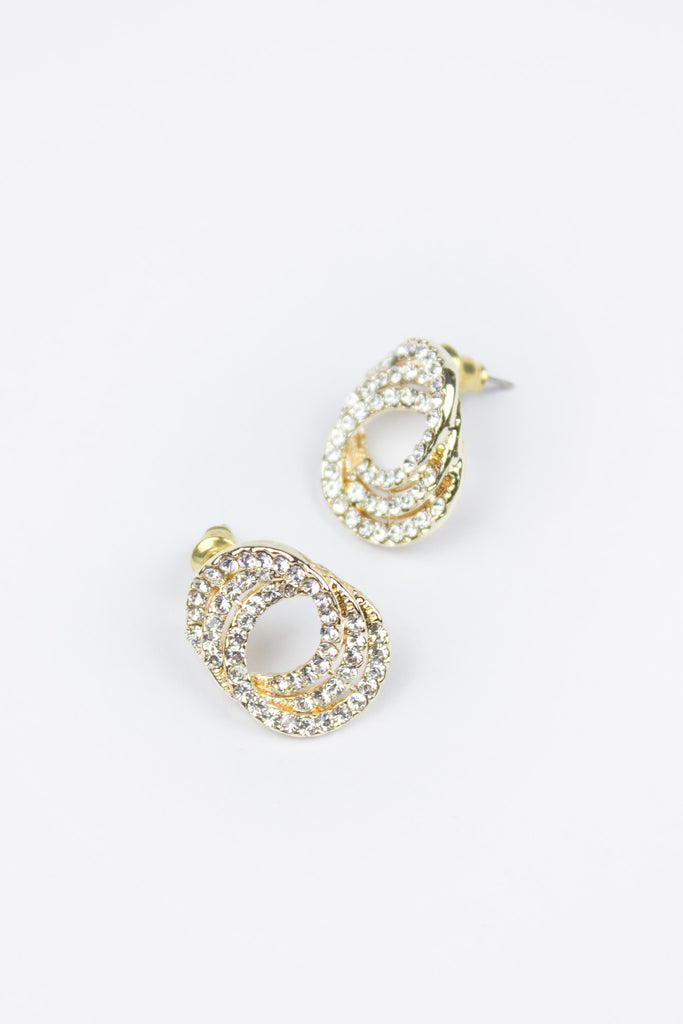 Rosie Double Circle Stud Earrings
