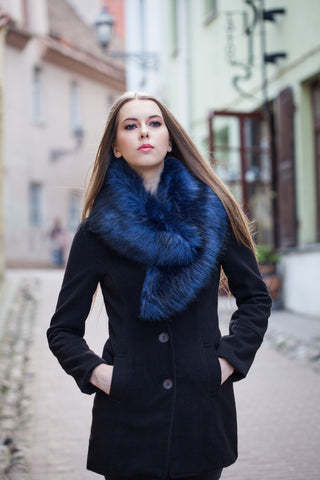 Emerald Collar Faux Fur Scarf