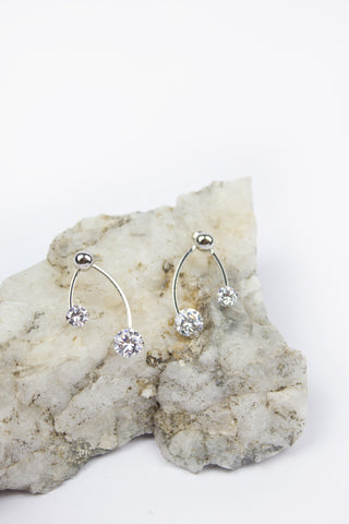 Diamond Angel Stud Earrings