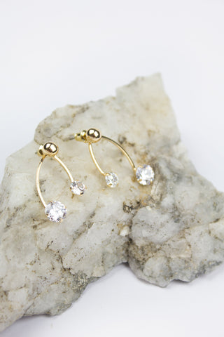 Gold Rosie Crystal Drop Earrings