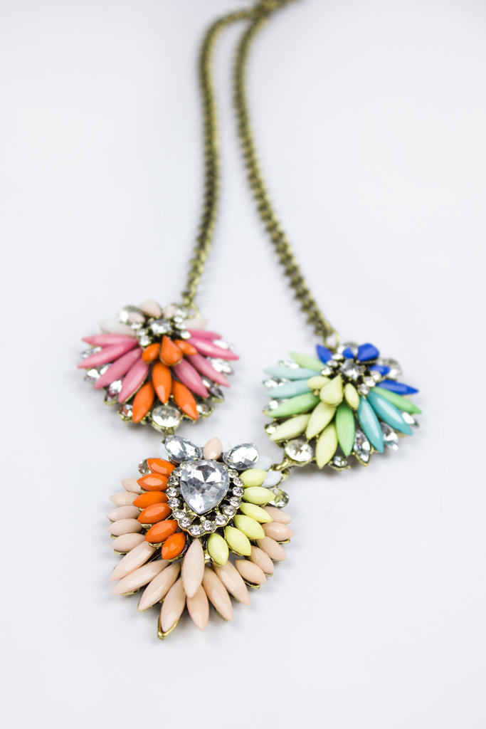Colourful Pretty Statement Necklace