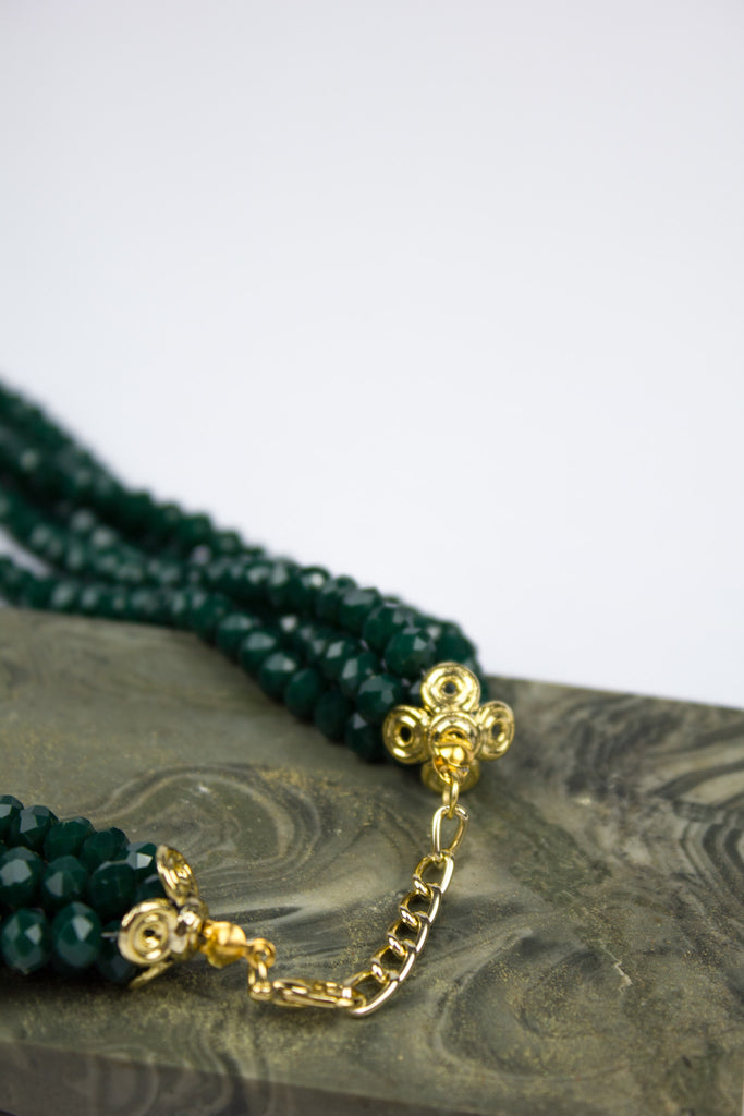 Emerald Green Pretty Crystal Clasp Bracelet