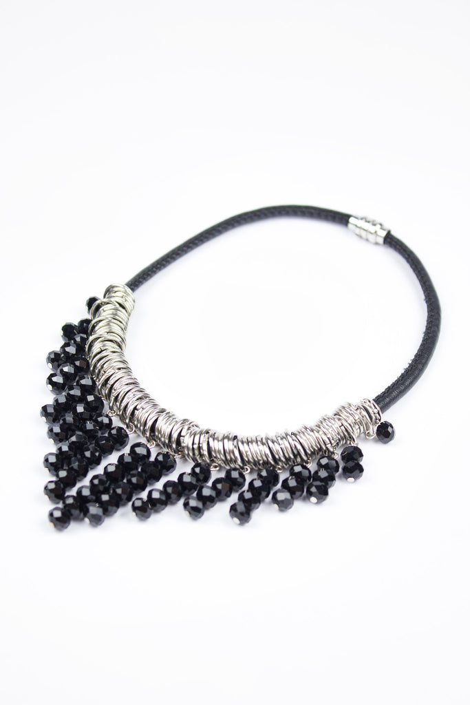 Black Pearl Statement Necklace