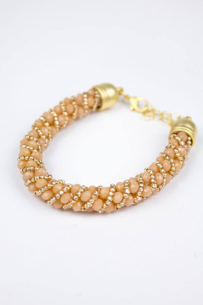 Rose Pretty Sparkly Clasp Bracelet