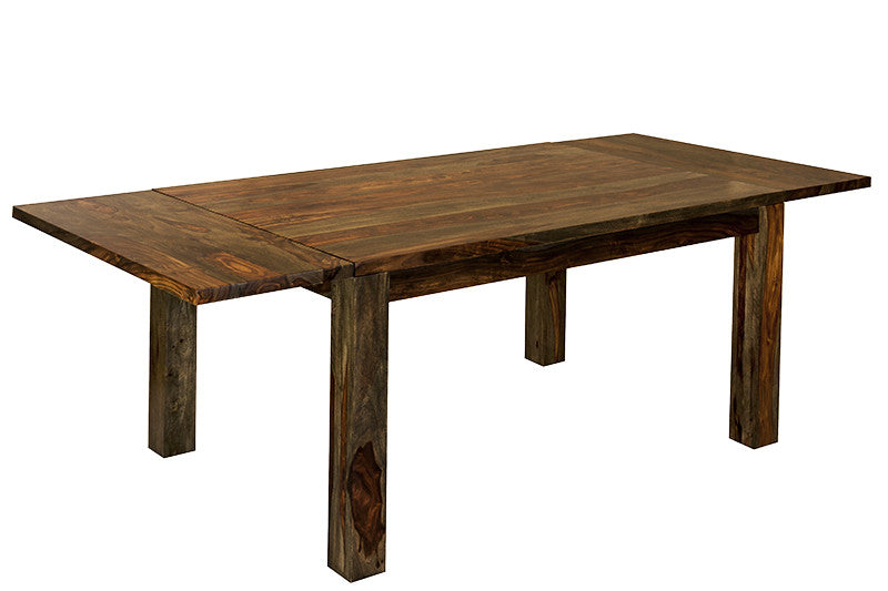 Extendable dining table made of Indian Rosewood Saya Loft