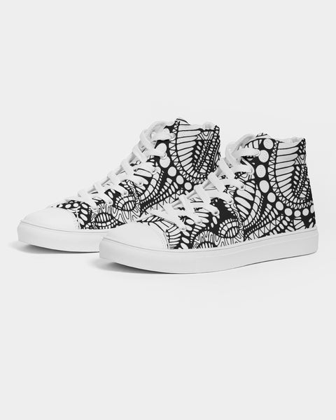 Not all Black & White Men's Hightop Canvas Shoe