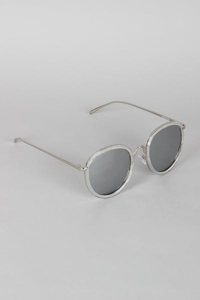 Pointy Bridge Plastic and Metal Sunglasses