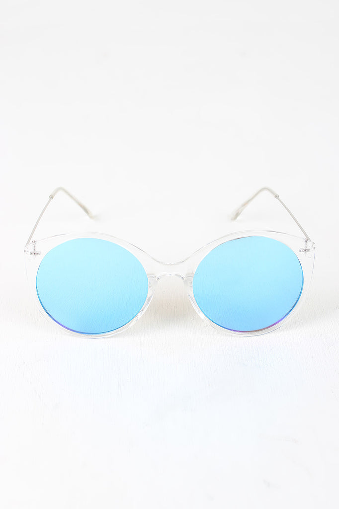Clear Frame Round Mirrored Sunglasses – Harrison x Rose Co.