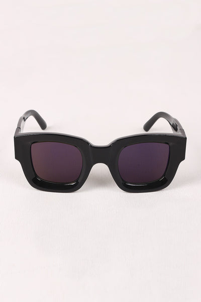 Mirrored Lens Wayfarer Sunglasses