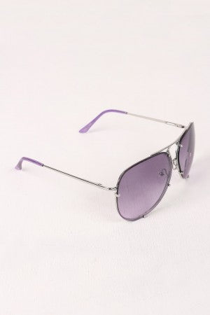 Wire Frame Gradient Aviator Sunglasses