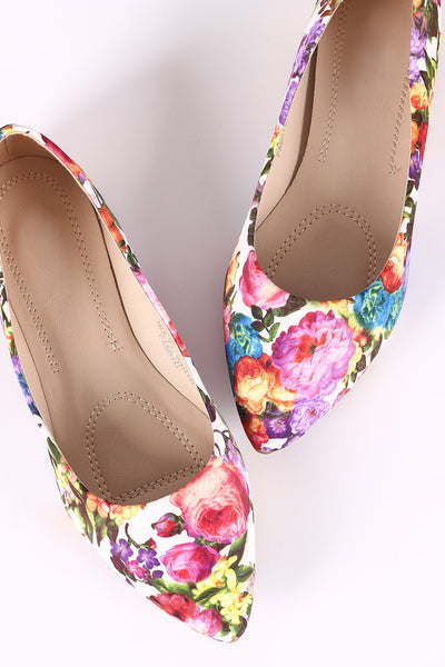 Printed Pointy Toe Flat