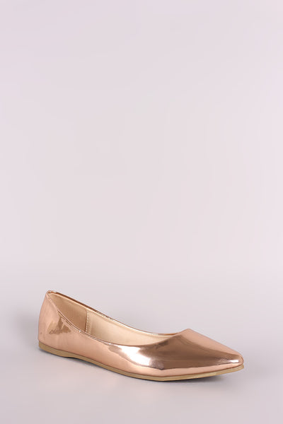 Patent Pointy Toe Ballet Flat