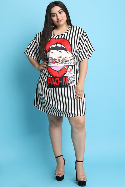 Striped Sandwich Shift Dress