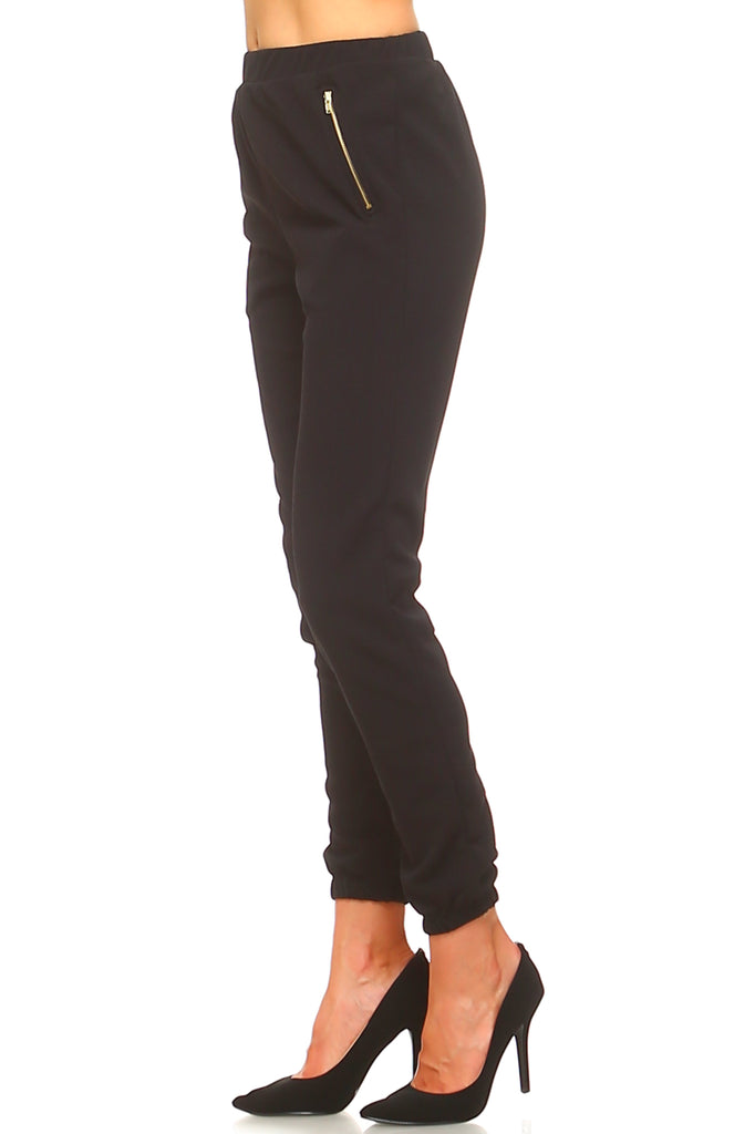 Women's High Waisted Zipper Pants
