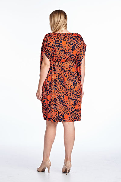 Women's Plus Size Bateau Neck Midi Dress