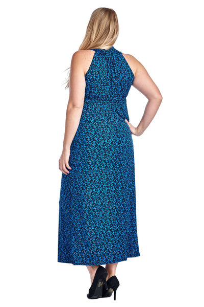 Women's Plus Size Printed Surplice Maxi Dress