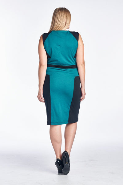 Women's Plus Size Sleeveless Sheath Dress