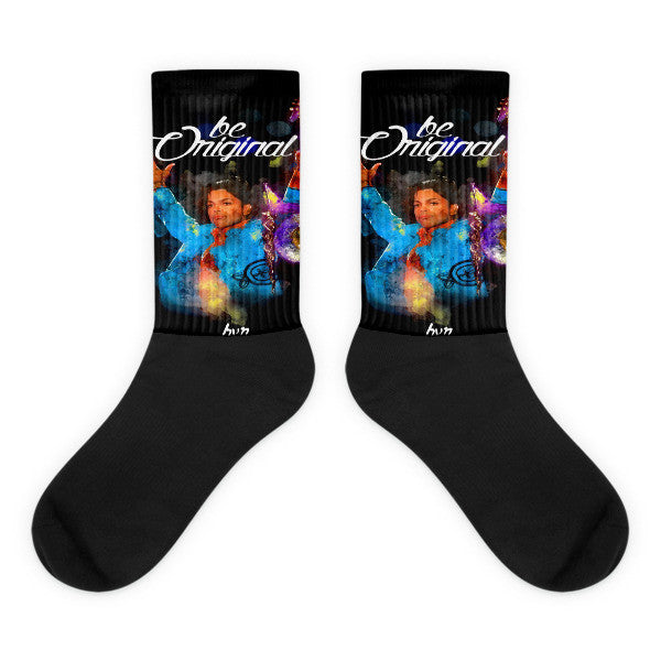 Prince - Rest in Love - Black foot socks