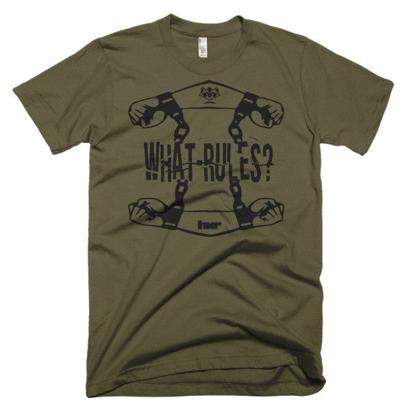 What Rules?  Short sleeve men's t-shirt