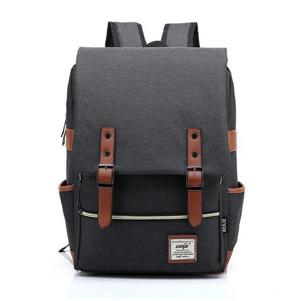 HXR - Men Daily Canvas Backpacks for Laptop Large Capacity