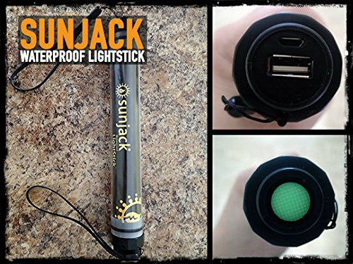 Waterproof LightStick Powerbank - SunJack  - 2