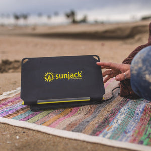 SunJack 25W Portable Solar Charger Panel