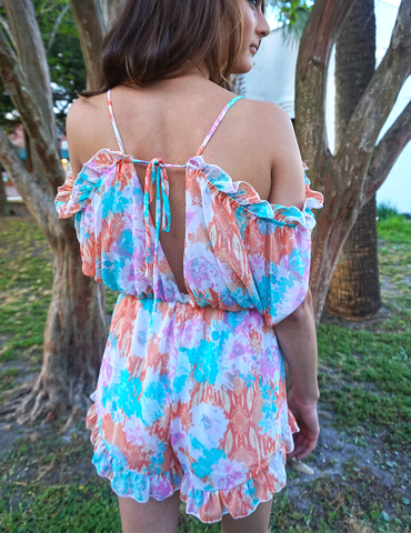 Wild Things Romper - Summer Colors - Floral Printed Romper