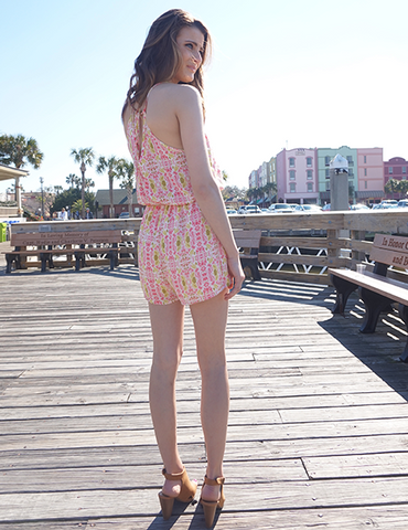 Back of the summer fashion trend romper online at the dressing space boutique
