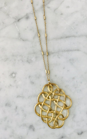 Intertwined Pendant Necklace - Gold